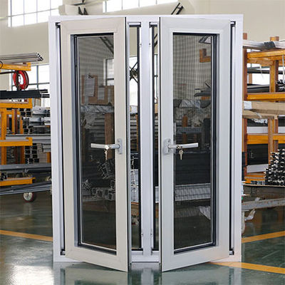 6063 T5 T6 Aluminium Casement Window With Security Wire Mesh